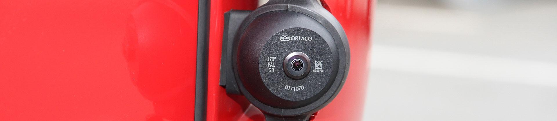 Orlaco Seitensicht Kamera an einem LKW