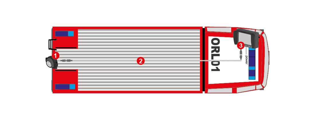 Produktbild ORLACO Rückfahr-Kamera-System für Löschgruppenfahrzeuge